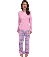 LAUREN Ralph Lauren - Knit Top/Flannel Pant PJ Set