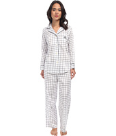 LAUREN by Ralph Lauren - Park Avenue Sateen LS Notch Collar PJ Set