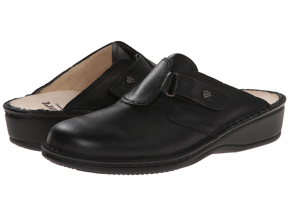 Finn Comfort - Orb - 2506 (Black) Womens Clog/Mule Shoes