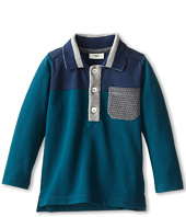 Fendi Kids - Pique Tonal L/S Polo w/ Logo Pocket (Infant/Toddler)