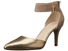 Cole Haan Memphis Ankle Pump (Maple Sugar Suede/Chestnut Gold Snake Print)
