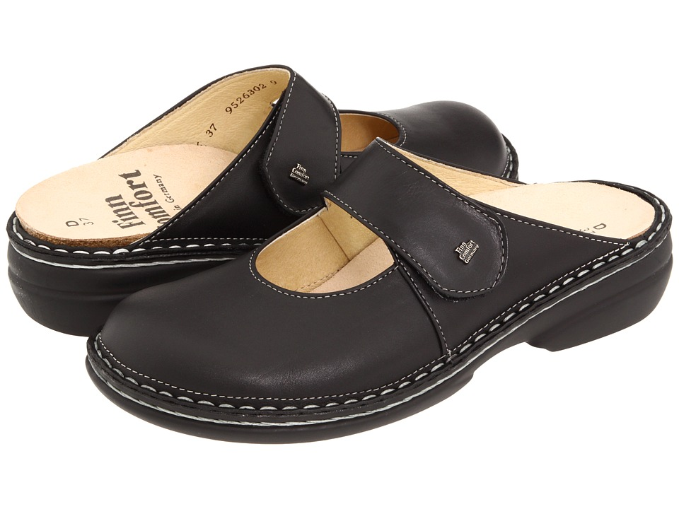 Finn Comfort - Stanford - 2552 (Black) Womens Clog Shoes