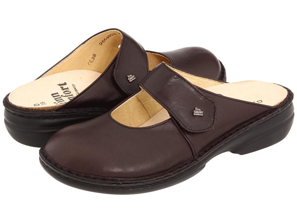 Finn Comfort Stanford 2552 (Kaffee Senegal Leather) Women's Clogs