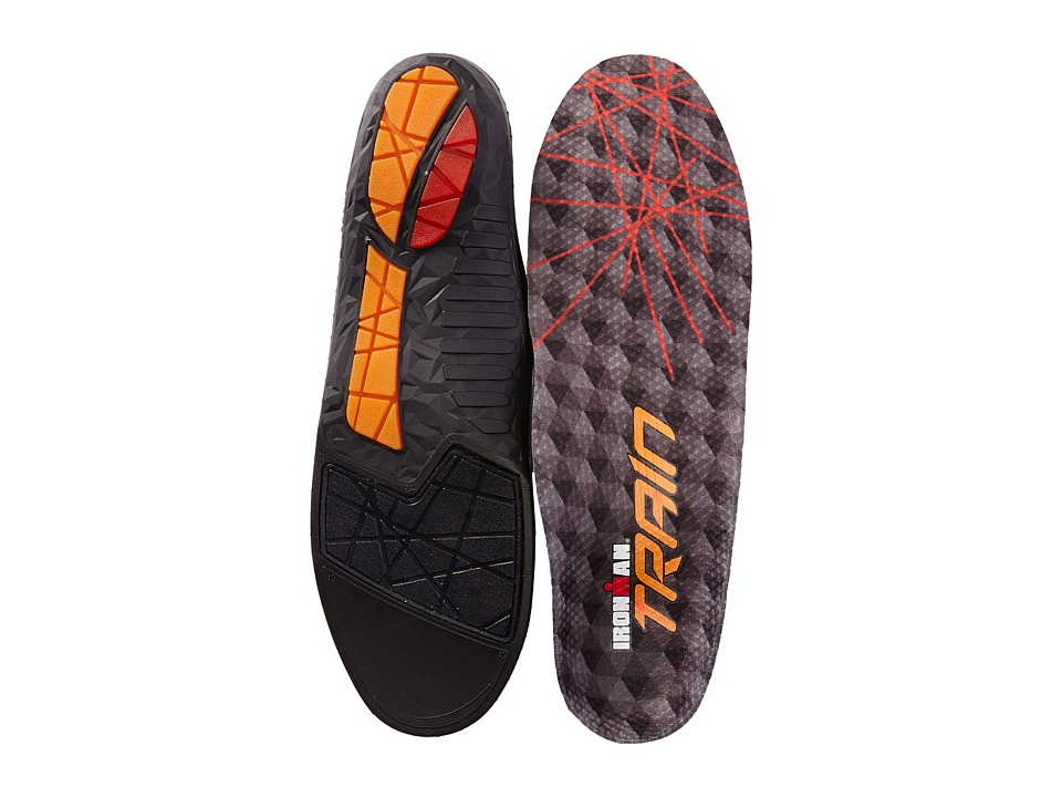 Spenco - Ironman Train Insole (Charcoal/Red) Insoles Accessories Shoes