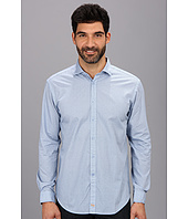 Thomas Dean & Co. - L/S Blue Neat Print Button Down Sport Shirt