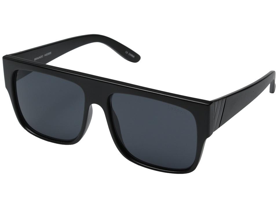 Le Specs Bravado Matte Black/Smoke Mono Fashion Sunglasses