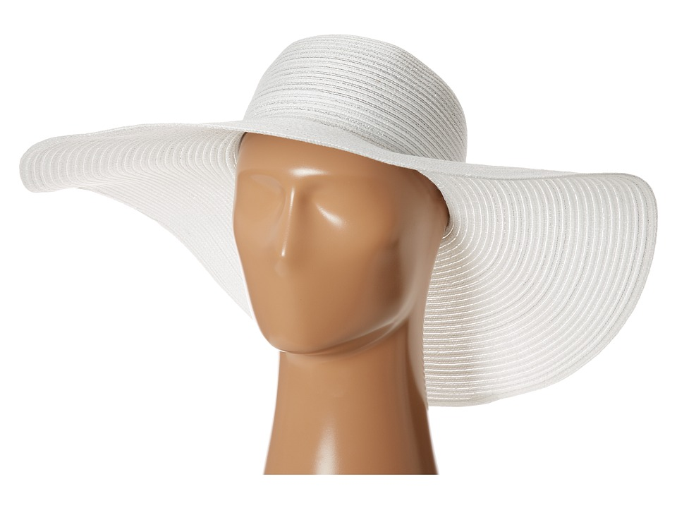Tommy Bahama - Big Brim Braid Hat with Lurex (White) Traditional Hats