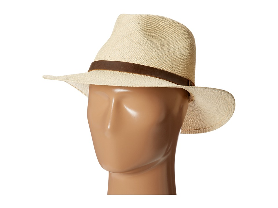 Tommy Bahama - Panama Outback Hat with Leather Trim (Natural) Traditional Hats