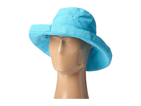 SCALA Big Brim Cotton Sun Hat - Turquoise