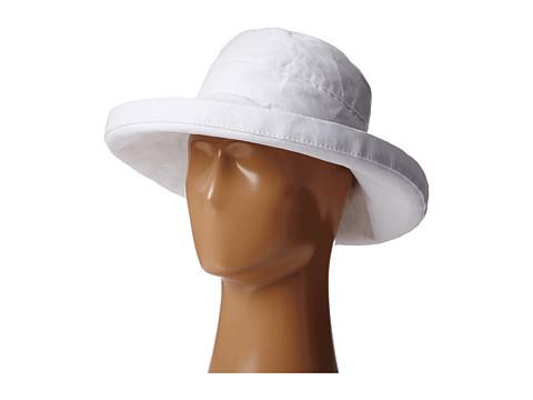 SCALA Big Brim Cotton Sun Hat - White