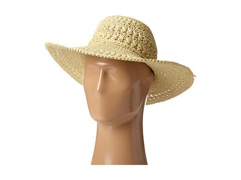 SCALA Big Brim Crocheted Toyo Hat - Natural
