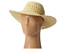 SCALA Big Brim Crocheted Toyo Hat (Natural)