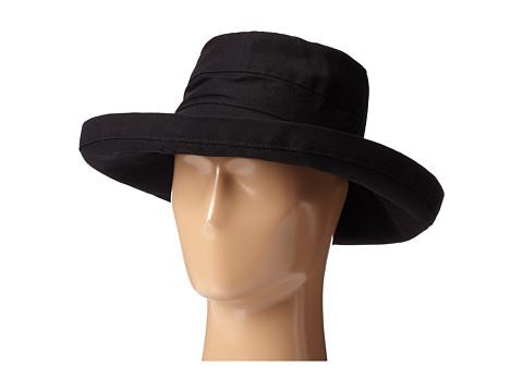 SCALA Big Brim Cotton Sun Hat - Black