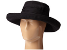 SCALA Big Brim Cotton Sun Hat (Black)
