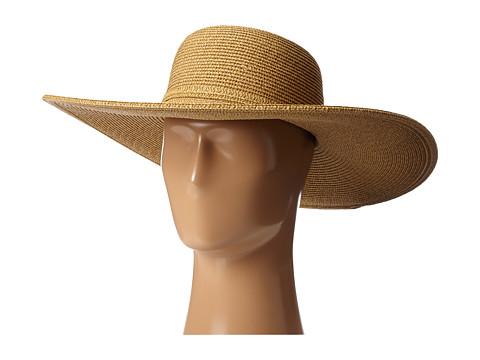 SCALA Big Brim Paperbraid Sun Hat - Natural / Brown