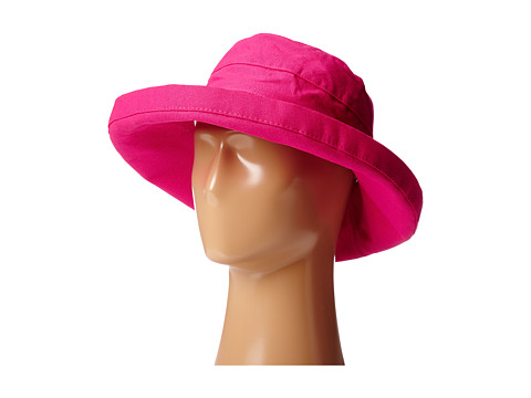 SCALA Big Brim Cotton Sun Hat - Fuchsia