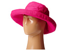 SCALA Big Brim Cotton Sun Hat (Fuchsia)
