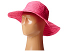 SCALA Crushable Big Brim Ribbon Sun Hat (Fuchsia)