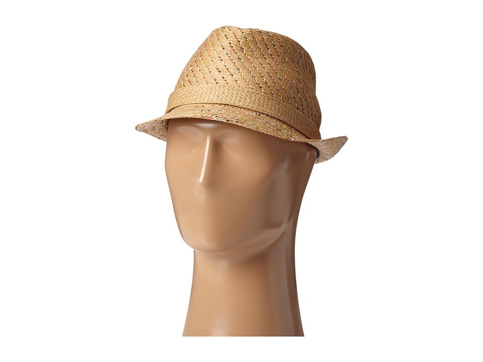 SCALA - Multi Tone Matte Toyo Fedora (Tea) Fedora Hats