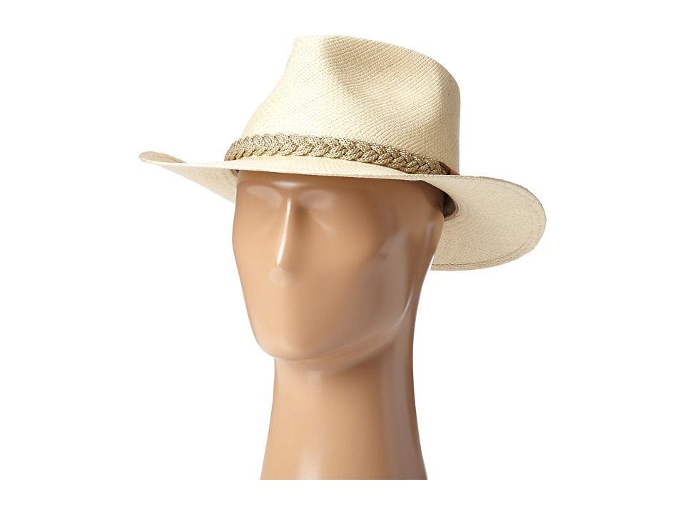 SCALA - Panama Outback Hat with Braided Jute Band (Natural) Traditional Hats