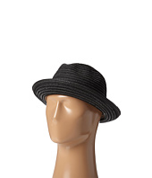 SCALA - Toyo Braided Fedora with Black Band and Contrast Stitch