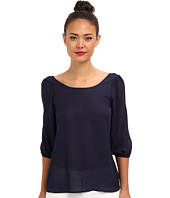 Brigitte Bailey - Bow 3/4 Sleeve Chiffon Top