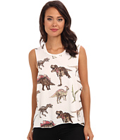 Chaser - All Over Dino Muscle Crop Top
