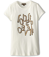 Roberto Cavalli Kids - Leopard Logo Print Jersey Tee Shirt (Big Kids)