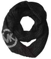 MICHAEL Michael Kors - Cable Infinity Scarf w/ MK Logo