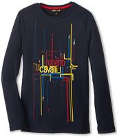 Roberto Cavalli Kids - Cavalli Wire Print L/S Tee (Big Kids)