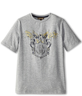 Roberto Cavalli Kids - Gold Raised Print S/S Tee (Big Kids)