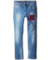 Roberto Cavalli Kids - Loose Fit Denim Pant w/ Crest Applique (Big Kids)