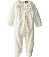 Roberto Cavalli Kids - Lurex Snake Print on Fleece Footie (Infant)