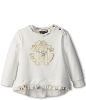 Roberto Cavalli Kids - Crest Applique Tee w/ Ruffle Hem (Infant 2)