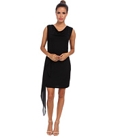 BCBGMAXAZRIA - Malory Cowl Neck Side Cascade Dress