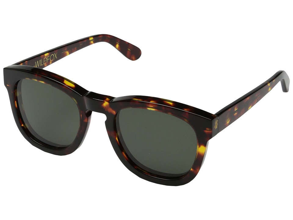 Wildfox Classic Fox Toyko Tortoise Plastic Frame Fashion Sunglasses