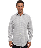 Thomas Dean & Co. - L/S Spread Collar Jacquard Check