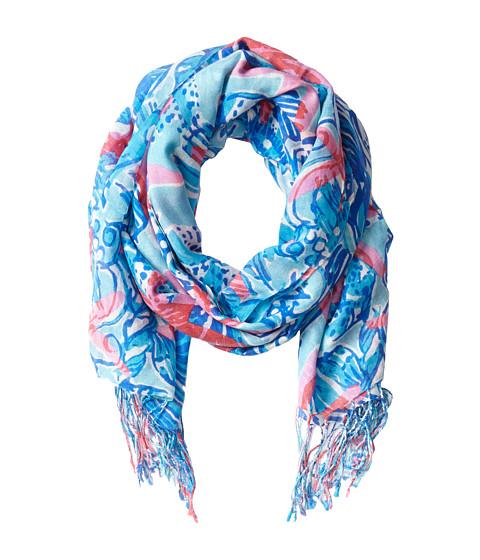 lilly pulitzer murfee scarf spa blue she she shells