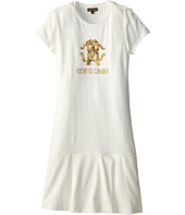 Roberto Cavalli Kids - Crest and Logo Print S/S Jersey Tennis Dress (Big Kids 2)