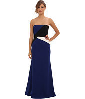 BCBGMAXAZRIA - Audrianna Strapless Colorblock Gown