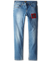 Roberto Cavalli Kids - Loose Fit Denim Pant w/ Crest Applique (Big Kids 2)