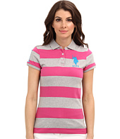 U.S. POLO ASSN. - Wide Striped Polo with Big Embroidered Pony