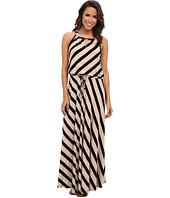Calvin Klein - Striped Keyhole Maxi Dress