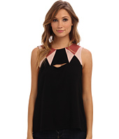 BCBGMAXAZRIA - Elin Color Blocked with Cutout Detail Tank Top