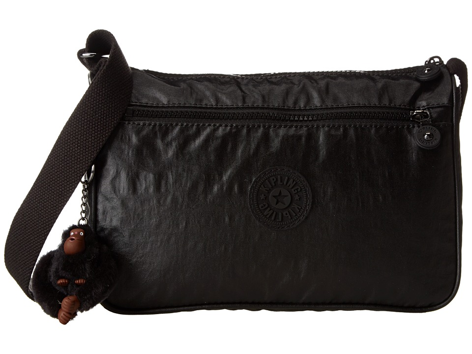 Kipling - Callie Coated Handbag (Lacquer Black) Handbags