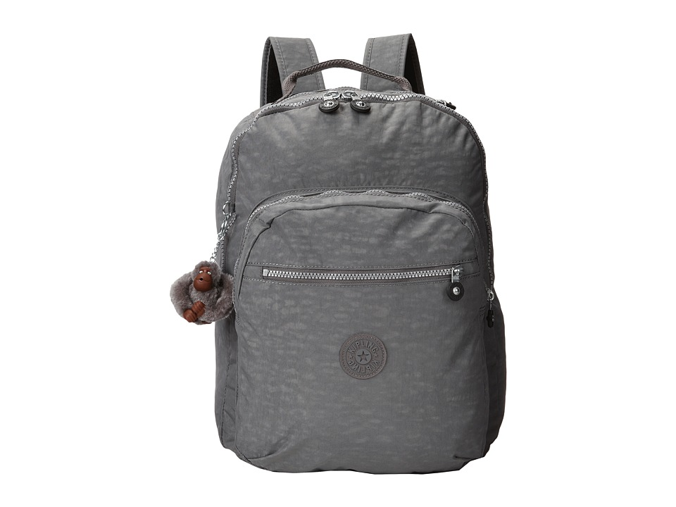 Kipling Seoul Backpack with Laptop Protection Dusty Grey Backpack Bags