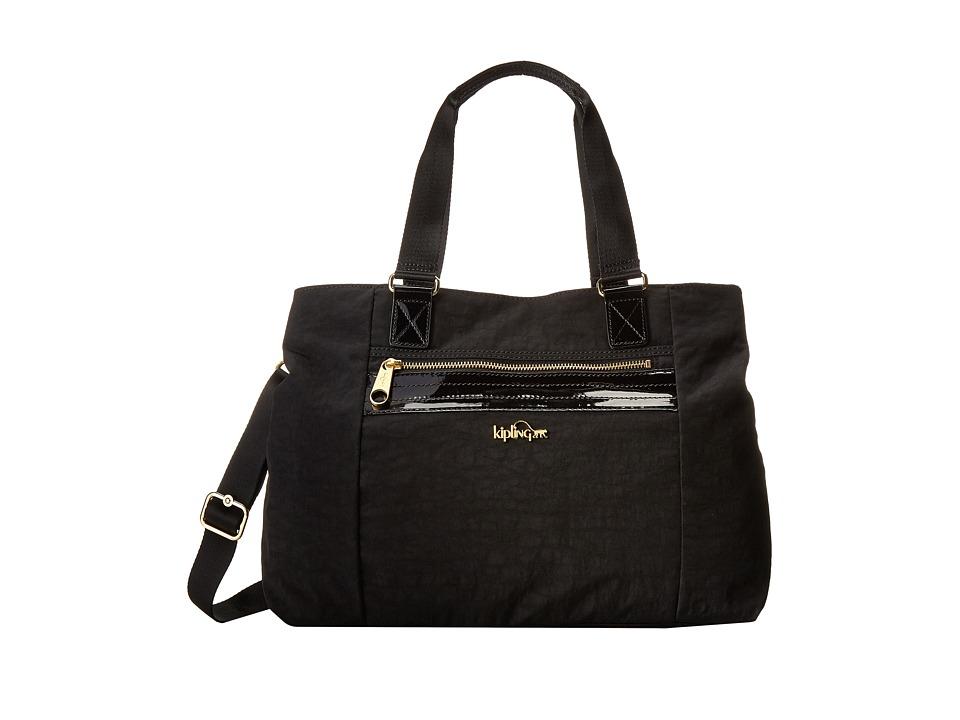 Kipling Kellyn Handbag Black Patent Combo Handbags