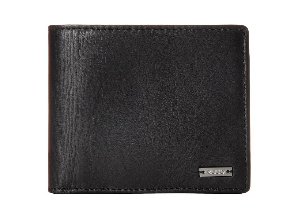 ECCO Floyd Wallet Black Bill fold Wallet