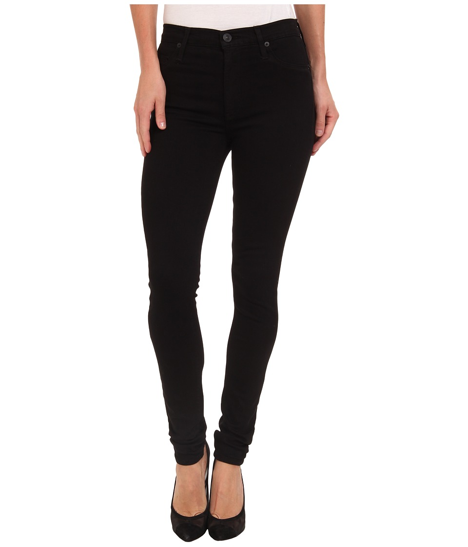 Hudson Barbara High Waist Super Skinny in Black Black Womens Jeans