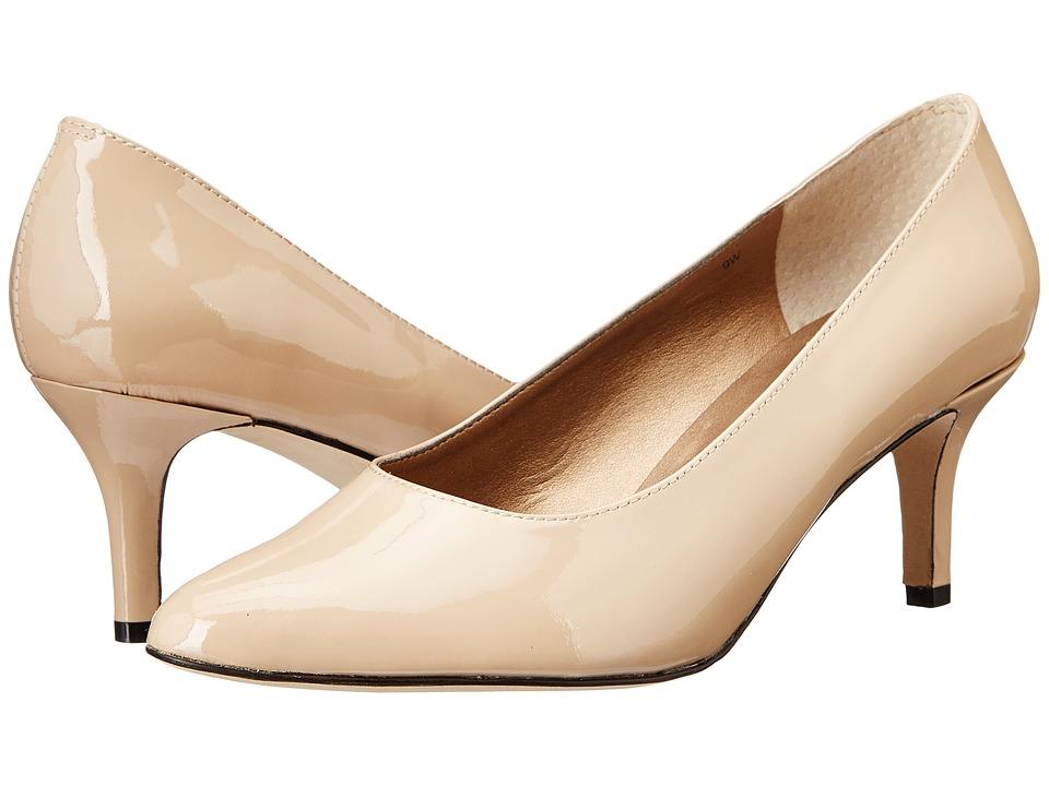 Vaneli Laureen Ecru Patent High Heels